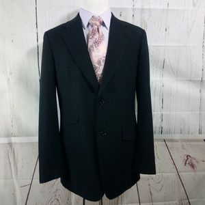 Pacific Custom Tailors 41R Black Suit Blazer Sport